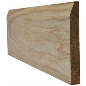 Chamfered Internal Unfinished Oak Skirting - 148 x 3000mm