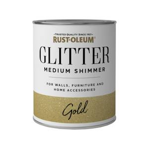 Rust-Oleum Medium Shimmer Gold Glitter - 750ml