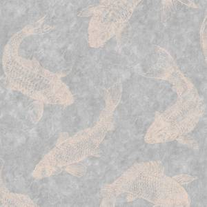 Boutique Pisces Slate Grey Wallpaper