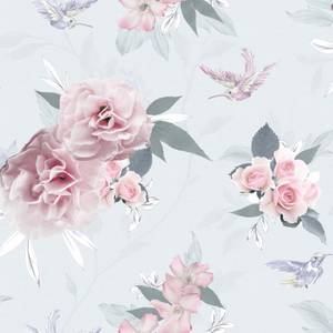 Fresco Photographic Illustrative Floral  Wallpaper