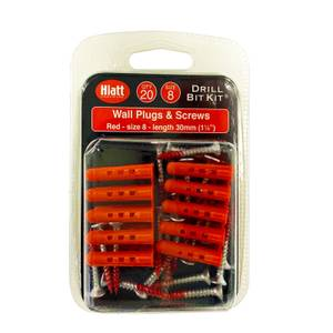 Red Plug And Screw Pack