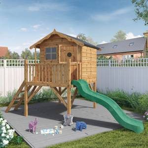 Mercia Tulip Playhouse with Tower and Slide