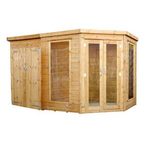 Mercia 11x7ft Summerhouse with Side Shed