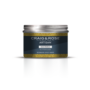 Craig & Rose Artisan Glitter Glaze Paint - Gold Sparkle - 300ml