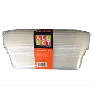 Clear Plastic Shoe Box 5 pack