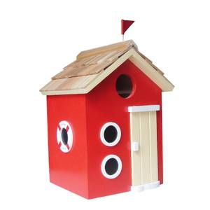 Bayside Beach Hut Bird House Red