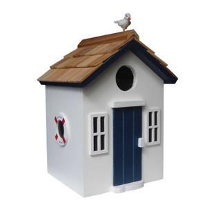 Bayside Beach Hut Bird House White