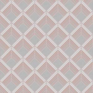 Boutique Trifina Geo Taupe & Copper Wallpaper