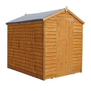 Mercia (Installation Included) 7x5ft Overlap Apex Windowless Shed