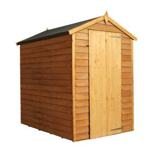Mercia (Installation Included) 6x4ft Overlap Apex Windowless Shed