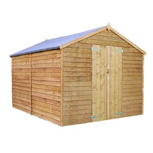 Mercia (Installation Included) 10x8ft Overlap Apex Windowless Shed