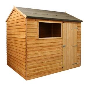 Mercia (Installation Included) 8x6ft Overlap Reverse Apex Shed