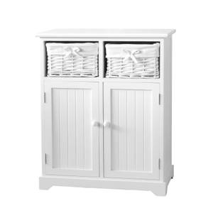 White Classic 2 Door, 2 Willow Drawer Storage Unit