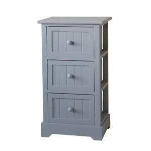 Grey Classic 3 Drawer Storage Unit