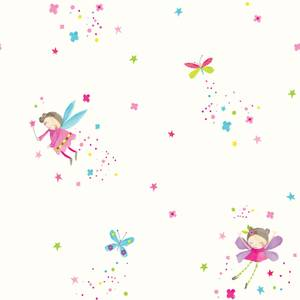 Arthouse Fairy Dust Kids Smooth Glitter White Wallpaper