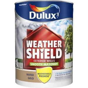 Dulux Weathershield Masonry Paint - Muted Gold - 5L