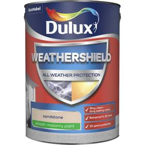 Dulux Weathershield All Weather Smooth Masonry Paint - Sandstone - 5L