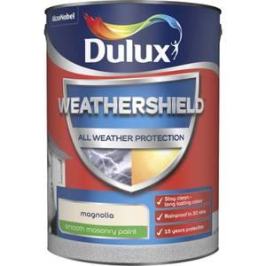 Dulux Weathershield All Weather Smooth Masonry Paint - Magnolia - 5L