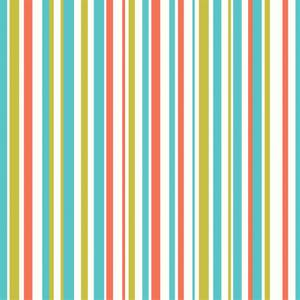 Arthouse Earn Your Stripes Kids Smooth Orange and Green Wallpaper