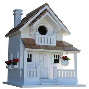 Backyard Bird Cottage Birdhouse White
