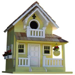 Backyard Bird Cottage Bird House Yellow