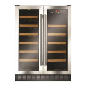 CDA FWC624SS 60cm Wide Double Door Multi Temperature Wine Cooler