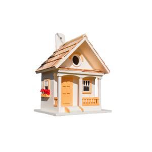 Peaches and Cream Cottage Bird House