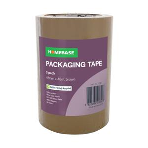 Homebase Packaging Tape 3 pack - Brown