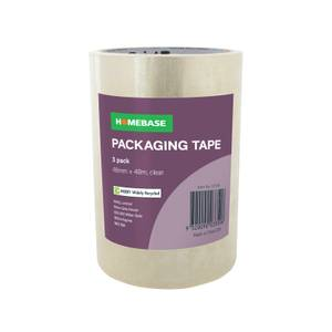 Homebase Packaging Tape 3 pack - Clear