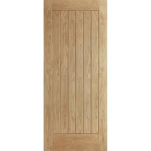 Norfolk External Unfinished Oak Door - 813 x 2032mm