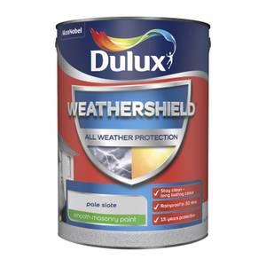 Dulux Weathershield All Weather Smooth Masonry Paint - Pale Slate - 5L