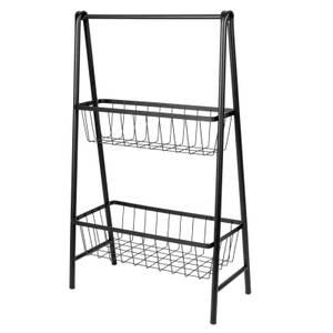 2 Tier Wire Baskets - Black