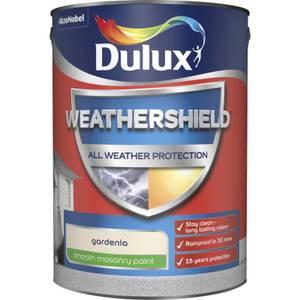 Dulux Weathershield All Weather Smooth Masonry Paint - Gardenia - 5L
