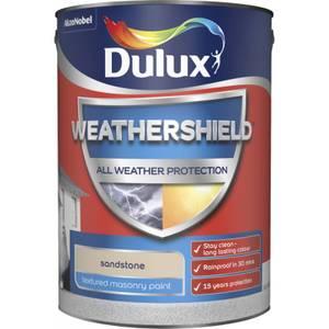 Dulux Weathershield All Weather Textured Masonry Paint - Sandstone - 5L