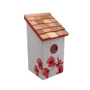 Saltbox Bird House Poppy