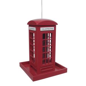 Traditional Red Telephone Box Feeder