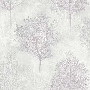 Arthouse Silva Woods Tree Embossed Grey and Mauve Wallpaper