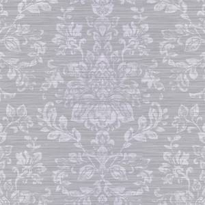 Arthouse Kyasha Damask Embossed Metallic Foil Silver Wallpaper