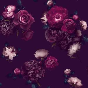 Arthouse Eurphoria Floral Smooth Plum Wallpaper