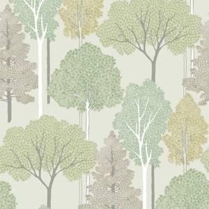 Arthouse Ellwood Tree Smooth Giltter Green Wallpaper