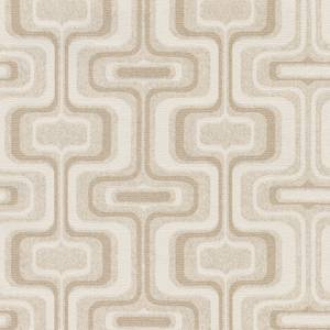 Belgravia Decor San Remo Geometric Embossed Metallic Natural Wallpaper