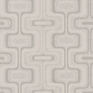 Belgravia Decor San Remo Geometric Embossed Metallic Smoke Grey Wallpaper
