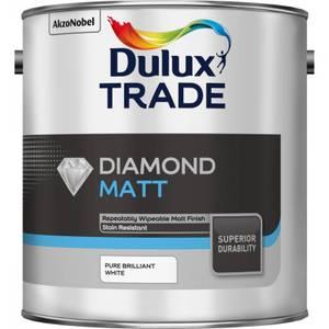 Dulux Trade Diamond Matt Pure Brilliant White 2.5L