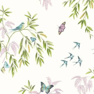 Arthouse Halcyon Days Floral Smooth Glitter Multi Coloured Wallpaper