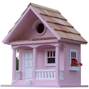 Cotton Candy Cottage Bird House