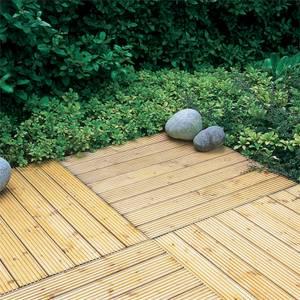 Patio Deck Tile - 90x90cm Pack of 4