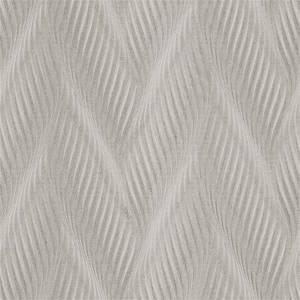 Belgravia Decor Coca Cola Geometric Embossed Metallic Wave Ivory Wallpaper