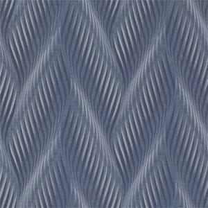 Belgravia Decor Coca Cola Geometric Embossed Metallic Blue Wallpaper