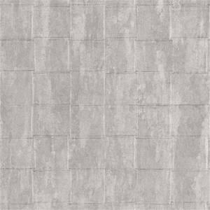 Belgravia Decor Coca Cola Tile Embossed Metallic Ivory Wallpaper