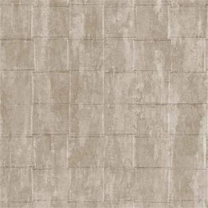 Belgravia Decor Coca Cola Tile Embossed Metallic Taupe Wallpaper